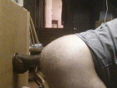 Ass Fucking a thick long dildo