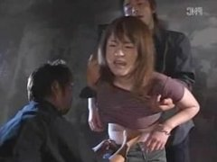 Japanese Girl Belly Punched with Arms Held Back
