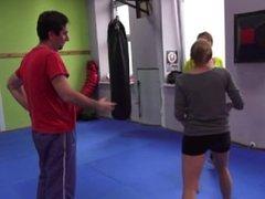 Paula and Iga destroys attacker