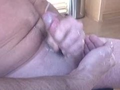 Daddy shooting big for me on cam