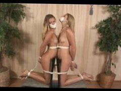 Two Naked Girls Tied Together
