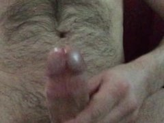 cumming with no hands, cum all over my shaft