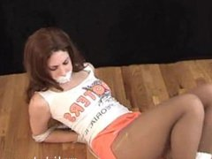 Hooters Girl Tied Up