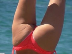 Bikini Camel toe Teens Beach Voyeur HD Video