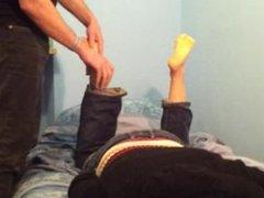 Foot massage and Solejob (no cs)