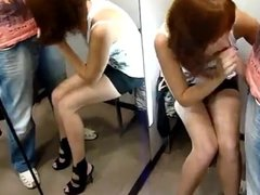 Blowjob at changing room