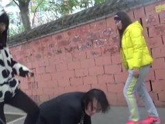 public femdom slapping