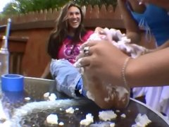 Lexis dirty feet get tape tied, creamed and licked