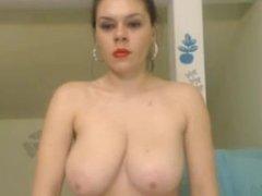 Big Boob cam girl fingers pussy
