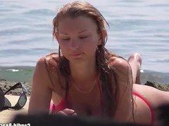 Sexy beach thongs Voyeur spycam