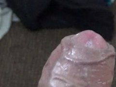 Masturbate for the Camera Shoots Cum All over Carpet