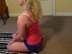 Blonde Milf Workout Feet & Ass Tease