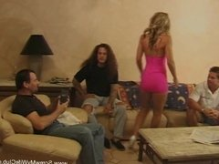 Swinger Housewife Takes On 3 Guys