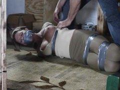 Tight tape bondage