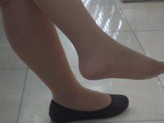 Asian Nylon Dangling Heels