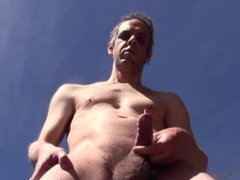 PISS AND CUM OUTDOOR IN PUBLIC - EURO AMATEUR SOLO MALE