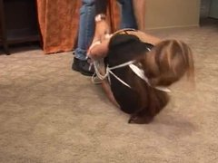 Ball tied woman