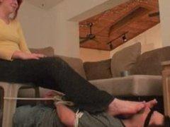 Cruel Stepsister Foot sniffing