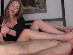 Son lick & sniff moms feet - Mistress T - WWW.HORNYFAMILY.ONLINE