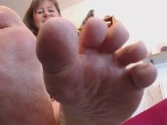 fat toes and soles off classy katy