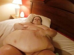 SSBBW playing with belly