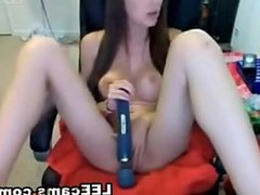 Hot brunette big tits webcam