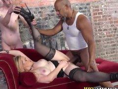 Slut takes massive cock