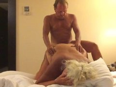 Mature couple creating a sex tape