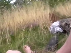 Russian Couple Having Anal Outdoor