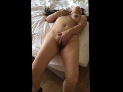 Asian blowing cock and masturbates