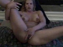 Amateur Blond Gets Cum On Her Face
