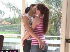 Hairy lesbian enjoys rimjob n anal fingering