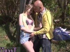 Amateur sauna blowjob first time Abby deep-throating prick outdoor