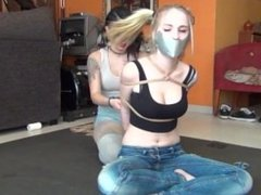 Spanish Ties - Trece in blue jeans rope tied up and gagged
