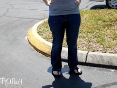 Wetting Jeans in a Parking Lot!