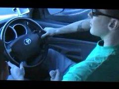 Double handjob in a car
