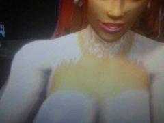 Yuonda gets her dress covered in jizz
