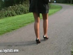 Hot blonde stiletto girl Jess stimulate fetish in high heels