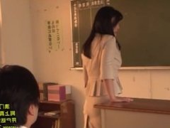 Horny teacher seducing her young male student