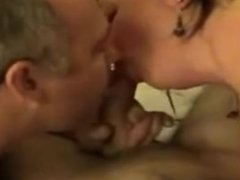 Mature bisexual couple having a trio