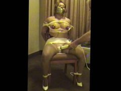 Sierra chair tied, nipple cupped, and vibed