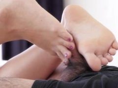 Shino Aoi Footjob From Behind