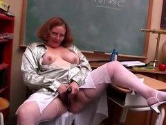 Big beautiful BBW redhead imagines you fucking her wet pussy