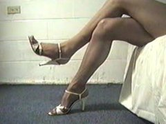 Stiletto Heels and Pantyhose Leg Teaser