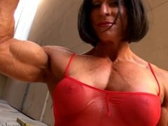 Strong Cristina muscles