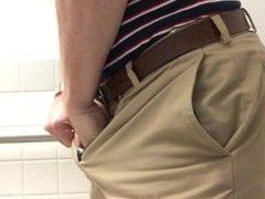 Spy cam big dick pissing