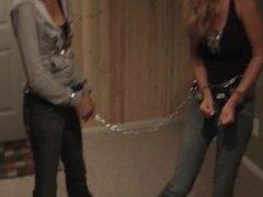 Handcuff Race In Pretty Dresses