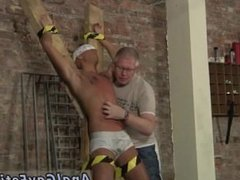 ing virgin gay ass sex He's roped up to the cross in just his