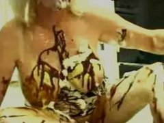 Messy Food Fetish Zoe Zane & Toy in Her Tight Ass