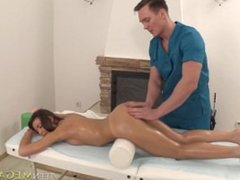 Bitch fucked after massage
